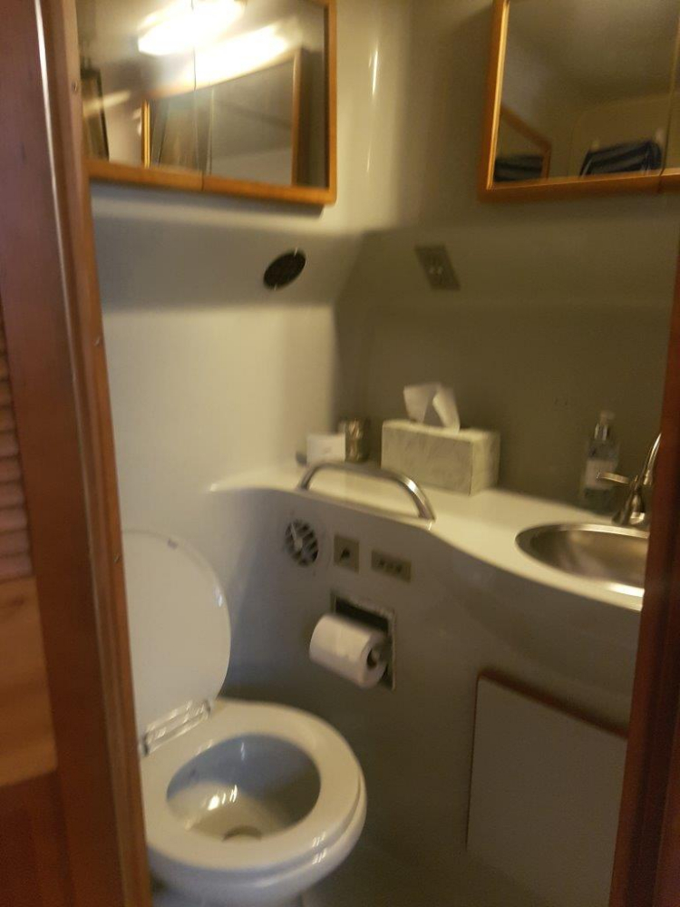 Master Head - Photo 31 of 42 - 1991 Sea Ray 380 Aft Cabin (Diesel) for sale